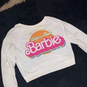 Barbie crop top sweater